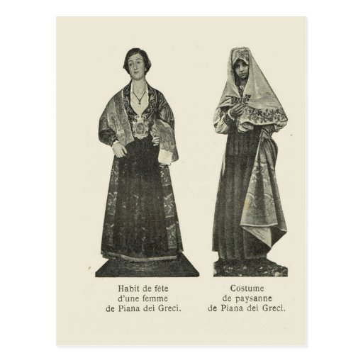 Vintage Italy, Sicily, Traditional Costume Postcard