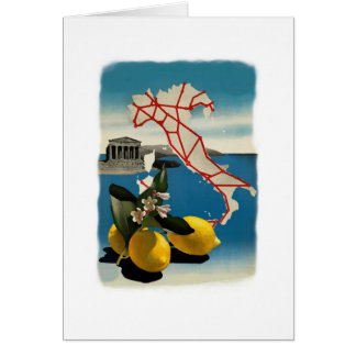 Vintage Italy Travel Greeting Card