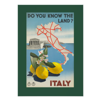 Vintage Italy Travel Poster