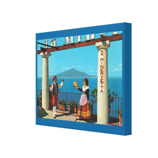 Vintage Italy, Ttaditional costumes in Sorrento Gallery Wrap Canvas
