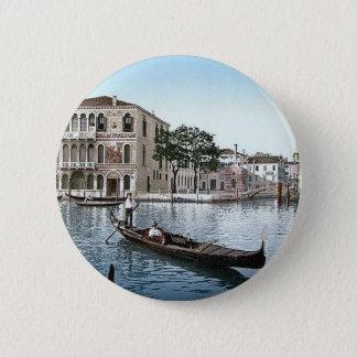 Vintage Italy Venice  1890's 6 Cm Round Badge
