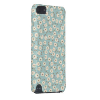 Vintage Ivory Flowers Pattern iPod Touch 5G Cover
