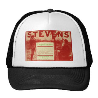 Vintage J Stevens Firearms Red Gun Ad Trucker Hat