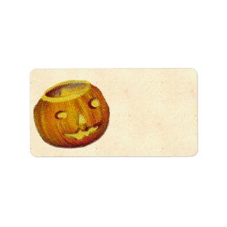 Vintage Jack O Lantern Address Label