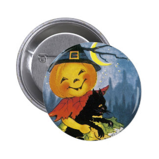 Vintage Jack o Lantern Child Pin