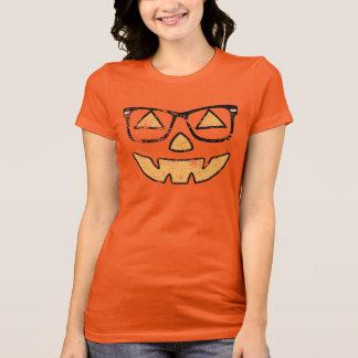 Vintage Jack-O-Lantern With Glasses Halloween T-Shirt