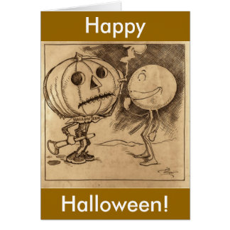 Vintage Jack o'Lanterns Talking Card