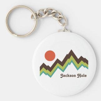 Vintage Jackson Hole Key Ring