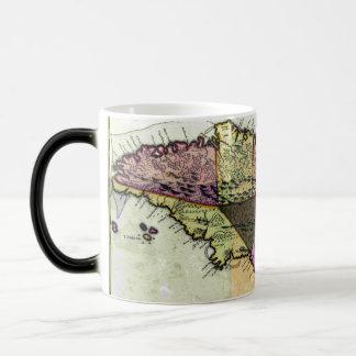 Vintage Jamaica 1680 Map Magic Mug
