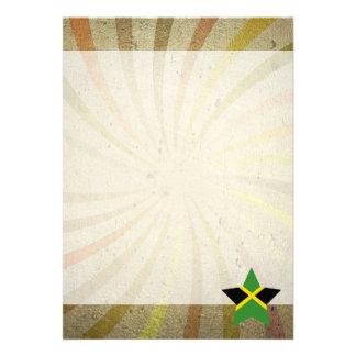 Vintage Jamaican Flag Swirl 13 Cm X 18 Cm Invitation Card
