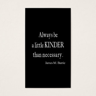 Vintage James Barrie Kinder than Necessary Quote Business Card