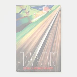 Vintage Japan Train Travel Post-it Notes