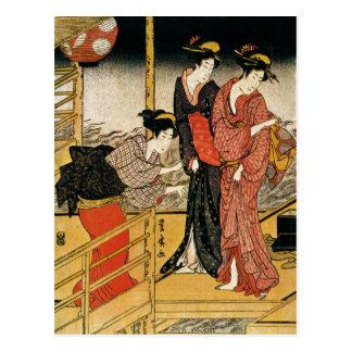 Vintage Japanese Art Post Cards