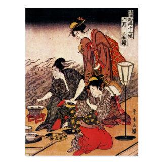 Vintage Japanese Art Post Card