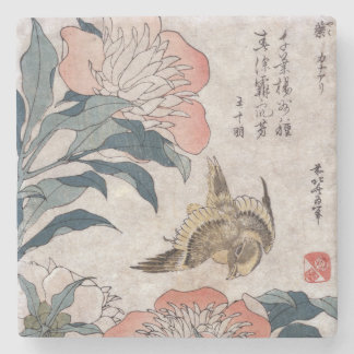 Vintage Japanese Art Stone Coaster