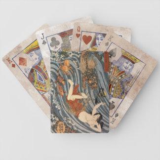 Vintage Japanese Art - Tamatori Dragon Bicycle Playing Cards