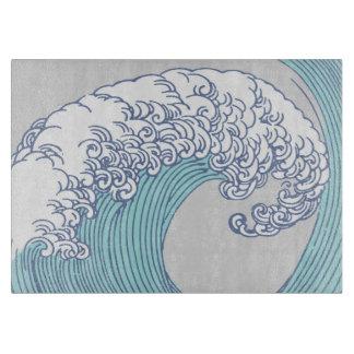 Vintage Japanese Artwork Print Wave Design Cutting Board