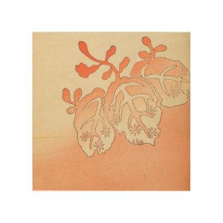 Vintage Japanese Autumn Leaves Wood Print
