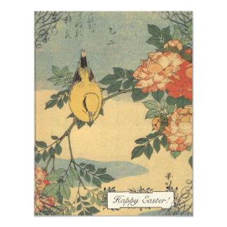 Vintage Japanese Bird Easter Cards 11 Cm X 14 Cm Invitation Card