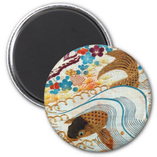 Vintage Japanese Carp and Running Water Magnet