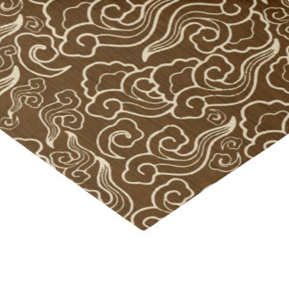 Vintage Japanese Clouds, Chocolate Brown Tissue Paper