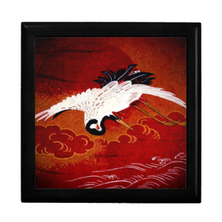 Vintage  Japanese Crane Art Gift Box