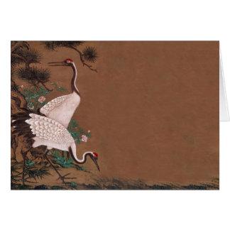 Vintage Japanese Cranes Wedding Invitations