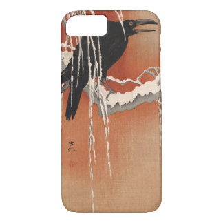 Vintage Japanese Crow Birds Art iPhone 8/7 Case