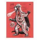 Vintage Japanese Cutaway Monster Postcard