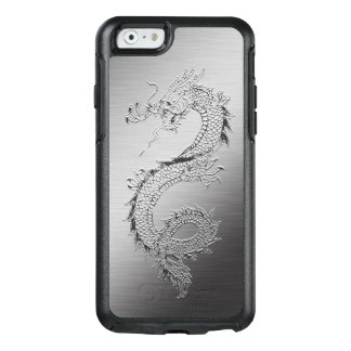 Vintage Japanese Dragon Brushed Metal Look OtterBox iPhone 6/6s Case