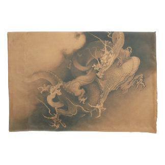 Vintage Japanese Dragons Battle Pillowcase
