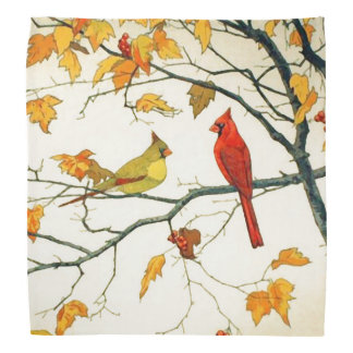 Vintage Japanese drawing, Cardinals on a branch Do-rags