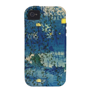 Vintage Japanese Evening in Blue Case-Mate iPhone 4 Cover