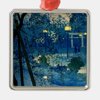 Vintage Japanese Evening in Blue Ornaments