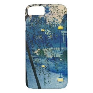 Vintage Japanese Evening in Blue iPhone 7 Case