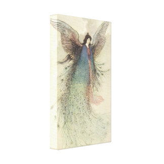 Vintage Japanese Fairy, Moon Maiden, Warwick Goble Stretched Canvas Prints