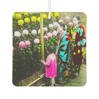 Vintage Japanese Family at Chrysanthemum Show