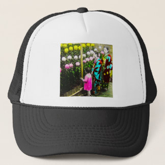 Vintage Japanese Family at Chrysanthemum Show Trucker Hat