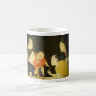 Vintage Japanese Family Gathering/ Coffee Mug