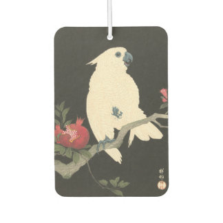 Vintage Japanese Fine Art | Cockatoo Car Air Freshener