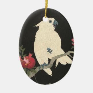 Vintage Japanese Fine Art | Cockatoo Ceramic Ornament
