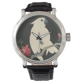 Vintage Japanese Fine Art   Cockatoo Watch