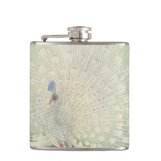 Vintage Japanese Fine Art | Peacock Hip Flask