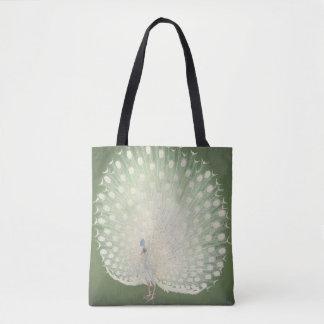 Vintage Japanese Fine Art   Peacock Tote Bag