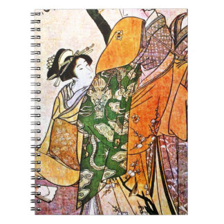 Vintage Japanese Geisha Artwork Notebooks