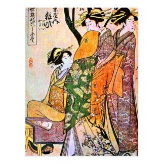 Vintage Japanese Geisha Artwork Postcard