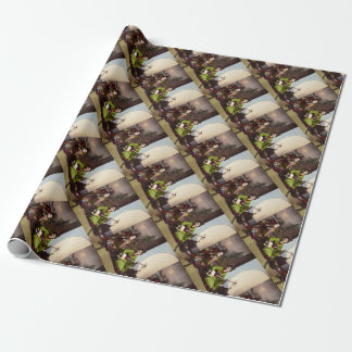 Vintage Japanese Geisha Musical Entertainment Wrapping Paper