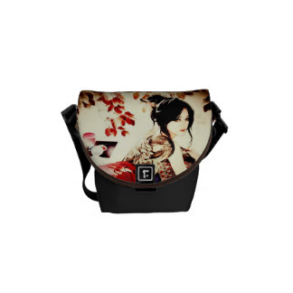 Vintage Japanese Girl Courier Bag