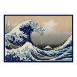 Vintage Japanese Great Wave Nautical of Mt. Fuji
