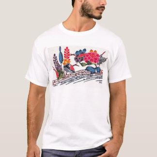 Vintage Japanese KIMONO Floral Pattern T-Shirt